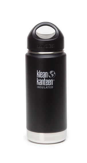 Klean Kanteen Wide Insulated Drinkfles met RVS Loop Cap, 473 ml zwart